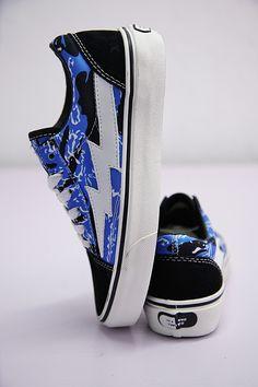 VANS REVENGE X STORM WATER BLUE WHITE 008243210 Custom Sneakers, Custom Shoes, Vans Shoes, Shoes Sneakers, Customised Vans, Cool Trainers, Blue Vans, Water Blue, Hip Hop Outfits
