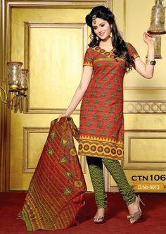 Orange and Light Parrot Cotton Salwar Kameez Dress material (100000060544)  #salwarkameez,#Brassosalwar kameez,#PashminaSalwar Kamneez,#designerSalwar Kamneez,#PashminaSuit,#SalwarSuits,#IndianSalwar Kameez,#PashminaSuits,#churidarsalwar kameez,#DesignerPartywear Suits,#AnarkaliSuits