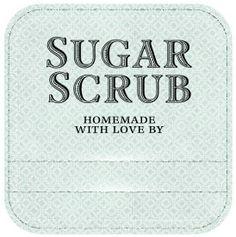 Sugar Scrub Labels