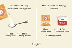 Baking soda 645351821580624403 - Baking powder and baking soda are leavening agents that help baked goods to rise. Here is exactly how to substitute baking powder and baking soda. Source by lularoecarissabeaton Cream Of Tartar Substitute, Baking Soda Substitute, Baking Soda Baking Powder, Baking Soda Uses, Drinking Baking Soda, Baking Power, Baking Tips, Baking Hacks, Deserts