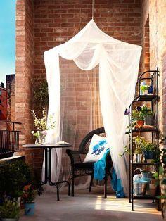 Mosquitera en la terraza, de Ikea