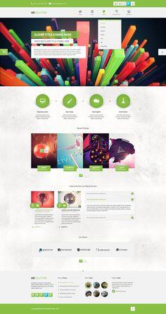 Unique Web Design on the Internet, Absolution #webdesign #websitedesign #website #design http://www.pinterest.com/aldenchong/design/