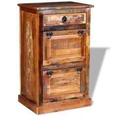 Vintage Wooden Cabinet Storage Shoe Cupboard Rustic Small Console Hall Furniture for sale online Shoe Cabinet Design, Wooden Shoe Cabinet, Shoe Cupboard, Wood Storage Cabinets, Wooden Cabinets, Cabinet Drawers, Cabinet Storage, Storage Chest, Acacia