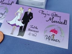Our #1 selling Wedding Shower Scratch Off Game Card is now available in Purple ombre! Available exclusively thru Amazon.com~ My Scratch Offs, LLC