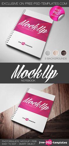 Free Notebook Mockup | free-psd-templates.com | #free #photoshop #mockup…