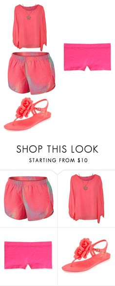 """""""Pink!"""" by daisy-owens on Polyvore featuring NIKE, WearAll, Aéropostale and Melissa"""