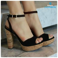 salto alto - party shoes - heels - salto amadeirado - black - preto - Ref. 14-21702 - Alto Verão 2015
