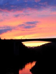 Atardecer desde las termas de Outariz- Ourense / Sunset from the Baths of Outariz - Ourense