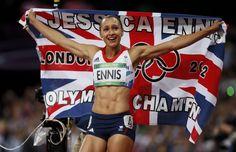 Jessica Ennis sacrée championne olympique de l'heptathlon.