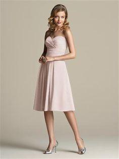 Dessy bridesmaid dress in Cameo