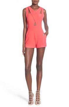 4f3776031c10 J.O.A. Cutout Detail Sleeveless Romper Summer Fashion Trends