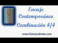 Encaje contemporaneo: Punto 4-4 por lamacaterine - YouTube