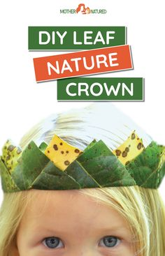 This leaf nature crown is worth that little extra effort to make. It's stunningly beautiful and the perfect head piece to make any little one special. Autumn Crafts, Nature Crafts, Easy Crafts For Kids, Fun Crafts, Crown Crafts, Leaf Crafts, Head Piece, Creative Play, Stunningly Beautiful