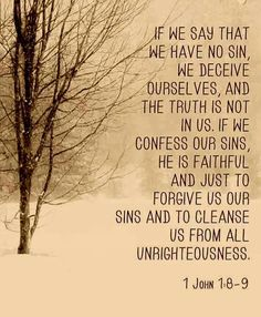 1 John 1:8-9 once God forgives you, all traces of your past offenses are gone. His forgiveness wipes away any feelings of guilt or blame.