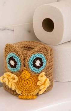 Retro Owl Toilet Roll Cover