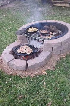 35 backyard landscaping ideas on a budget 21 - Diy garden decor, Backyard fire, Backyard . Cheap Fire Pit, Diy Fire Pit, Fire Pit Backyard, Backyard Seating, Backyard Fireplace, Outdoor Fireplaces, How To Build A Fire Pit, Fire Pit With Grill, Fire Pit Bbq