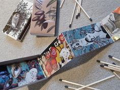 accordion books housed in a matchbox #tutorial