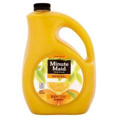 Minute Maid Premium Original 100% Juice Orange, 128 fl oz
