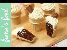 Ice Cream Cone Chocolate Cupcakes | fiona's food - YouTube