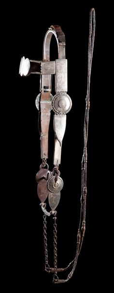Early, large and impressive example of a Southern Plains silver bridle. Auction Estimate $50,000-65,000. Auction Date: June 6, 2015.