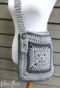 Cozy Messenger Bag By Fiber Flux/Jennifer Dickerson - Free Crochet Pattern - (ravelry)