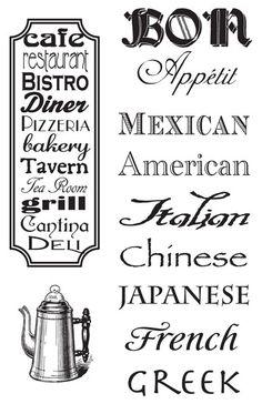 Hampton Art - 7 Gypsies - Clear Acrylic Stamps - Cuisines at Scrapbook.com