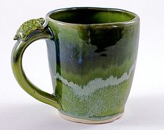 Ceramic Turtle Mug Handmade by Adults with Developmental Disabilities
