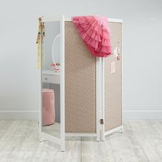 Ana White | Build a HOW TO: Build a Mirrored Changing Screen with Pin Boards on Back | Free and Easy DIY Project and Furniture Plans