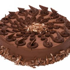 This Devils Food Cake Recipe has chocolate ganach inside and is surrounded by even more chocolate.. Devils Food Cake Surrounded With Chocolate Recipe from Grandmothers Kitchen.