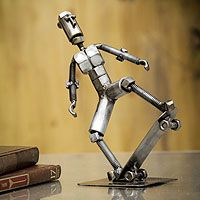 Recycled metal statuette, 'Skater Boy' from @NOVICA, They help #artisans succeed worldwide.