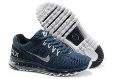 hot sale online 48250 80437 2013 Air Max Squadron Blue Reflective Silver Black Mens Shoes Nike Kicks, Nike  Shoes Outlet