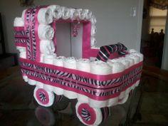 zebra+print+diaper+cakes | Share