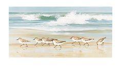Sandpipers On the Beach Prints | GAFunkyFarmhouse: This 'n That Thursdays: Seaside Serenity Living Room