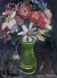 Anne Redpath - Vase of Mixed Flowers