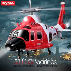 2016 Hot Sale Original SYMA RC marines helicopter with Gyro Shatterproof LED Lights drone easy control Toys Attack Helicopter, Military Helicopter, Remote Control Toys, Radio Control, Choppers, Benz, Volkswagen, Museum, Luz Led