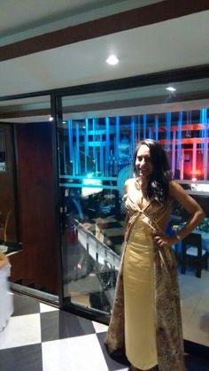 My #amazing #dress, #cocktail #dress, #marriage #dress, #Golden #Gold