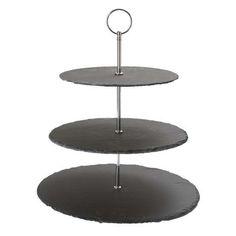 three tier slate cake stand - Slate Cafe Ideas