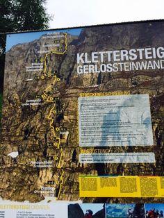 Gerlossteinwand Klettersteig Streckenverlauf