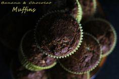 Buenos días! Hoy traigo unos riquísimos #muffins de #chocolate y #banana para chuparse los dedos. Quieres saber como hacerlos? Quieres ver de quien es la receta original? http://cakepuntcom.blogspot.com.es/2015/10/bananas-chocolat-muffins.html