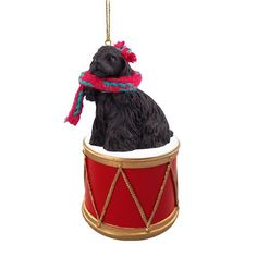 Cocker Spaniel Black Drum Ornament