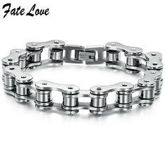 New Fashion  New Hot Sale Fashion New Bike Bicycle Chain  Men's 316 titanium steel Bracelets for men 3136b