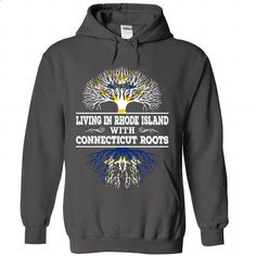 Living in Rhode Island with Connecticut Roots - #shirt prints #sweater nails. BUY NOW => https://www.sunfrog.com/LifeStyle/Living-in-Rhode-Island-with-Connecticut-Roots-3675-Charcoal-Hoodie.html?68278