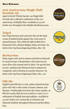 Schlafly Releasing 21st Anniversary Single Malt Scottish Ale, Tripel & Barleywine & Old Ale In Dec