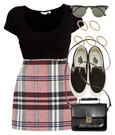 """""""Sin título #12790"""" by vany-alvarado ❤ liked on Polyvore featuring Topshop, Ray-Ban, Made, Vans and Monki"""