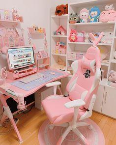 Girl Bedroom Designs, Room Ideas Bedroom, Bedroom Decor, Bedroom Furniture, Cute Room Decor, Pastel Room, Pink Room, Pink Games, Dream Rooms