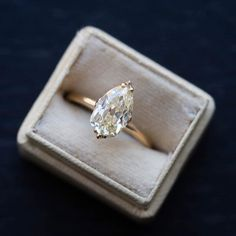 Stunning vintage engagement rings on ideas to try. This Pear Cut Edwardian Engagement Ring with Old European Brilliant Cut Diamond Engagement Ring