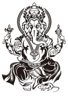 50 Beautiful Ganesha Tattoos designs and ideas With Meaning Ganesha Tattoos, Hindu Tattoos, Shiva Tattoo, Buddha Tattoos, Body Art Tattoos, Sleeve Tattoos, Lord Ganesha, Lord Shiva, Arte Ganesha
