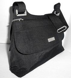 38a28cee8d NEW BAGGALLINI Womens Crossbody Shoulder Bag Black Nylon Top Zip Front Flap  Pckt  Baggallini