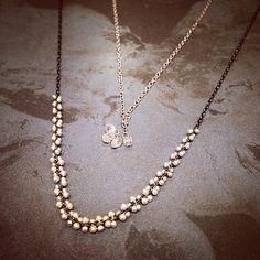 Tenthousandthings diamond necklace Costume Jewelry, Antique Jewelry, Pearl Necklace, Artisan, Designers, Gems, Jewellery, Pearls, Diamond