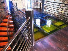 glass bridge /table Denver Private Residence